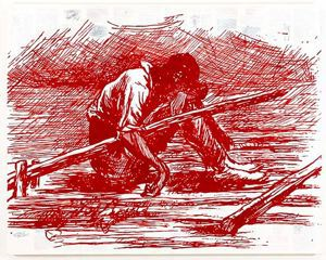 Image of Adventures of Huckleberry Finn—Asleep on the Raft (after Mark Twain)